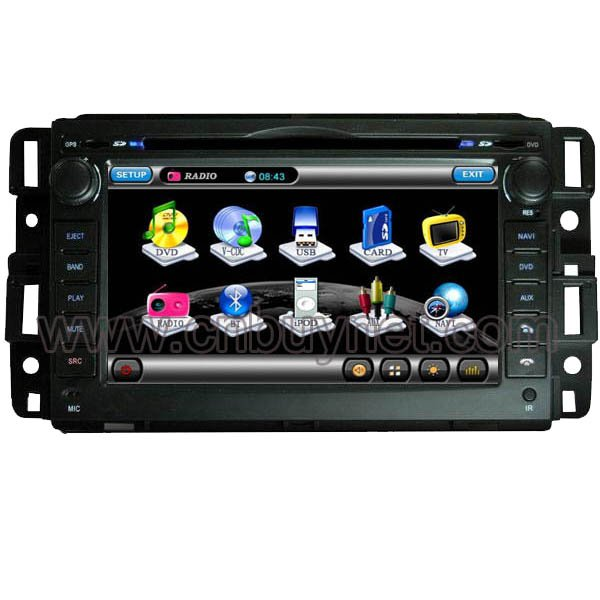 GMC Savana Navigation GPS DVD Player, Multimedia Radio, Canbus