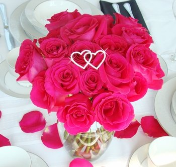 Forever & Always... Crystal Double Heart Bouquet Jewel BQ 223