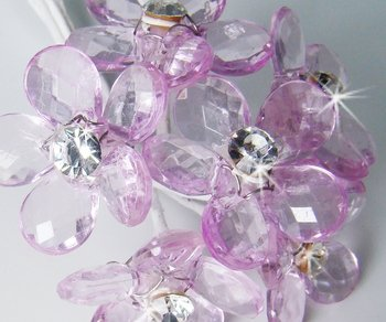 Lilac Crystal Flower Bouquet Jewels