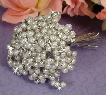 Silver White Beaded Pearl Flower Bundle 474