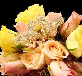 Crystal Butterfly Bouquet Jewelry BQ-Butterfly-Large