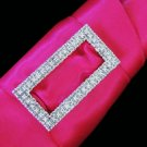 Crystal Rectangle Buckle Bouquet Jewelry 2195