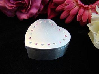 Pink Heart Trinket Jewelry Box 3531