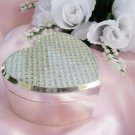 Crystal Glitter Clear Heart Jewelry Box 83603