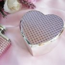 Pink Crystal Glitter Heart Jewelry Box 83623