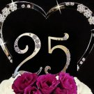 Small Numbers Large Heart Anniversary Cake Topper Set