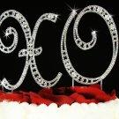 Swarovski Crystal XO Hugs & Kisses Wedding Anniversary Cake Top