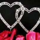 Swarovski Crystal Double Heart Wedding Cake Topper