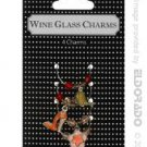 Martini & shoes wine glass charms - asst. pack of 4