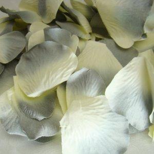 Gray / Blue / Ivory Rose Petals