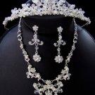 Elegant Crystal & Pearl Matching Tiara Jewelry Set NE 7500 & HP 7052