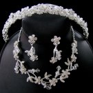 Couture Crystal Matching Jewelry & Tiara Set NE 7206 Dangle Earring & HP 7095