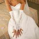 Designer Fingerless Bridal Glove GL9130-12A