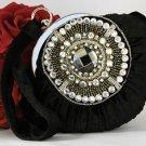 Black Velvet Velour Bridal Evening Bag EB 300
