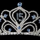 Light Blue Sweet 15 or Sweet 16 Tiara HP 242