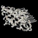 Silver Bridal Rhinestone Brooch 6