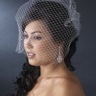 French Bird Cage Veiling with scattered Swarovski Rhinestones (VCage 702)