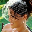 Bird Cage Couture Bridal Veil on Comb White or Ivory (VCage 700)