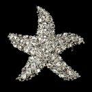 Starfish Crystal CZ Brooch 3168