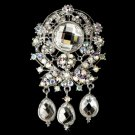 Large AB Crystal Celebrity Style Brooch for Gown or Hair - Brooch 8777
