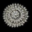 Vintage Rhinestone Crystal Bridal Brooch 39