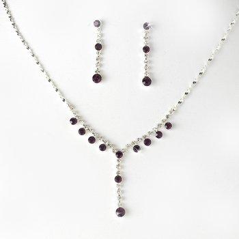 Necklace Earring Set NE 7157 Amethyst