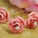 Light Pink Glitter Bridal Hair Pin 901 (Set of 12)
