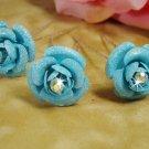 Sky Blue Glitter Crystal Bridal Hair Pin 901 (Set of 12)