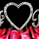 Swarovski Crystal Monogram Heart Wedding Cake Topper Set
