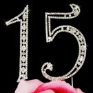 Sweet 15, 15th Anniversary, or Quinceañera Cake Topper
