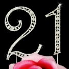 21st Birthday Swarovski Crystal Cake Topper