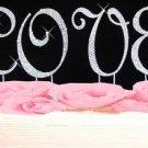 Completely Covered ~ Swarovski Crystal LOVE Cake Top Set