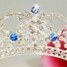 HP523 Royal Blue Accented Bridal Tiara