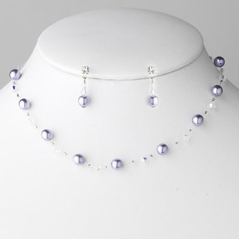 Necklace Earring Set 207 Berry