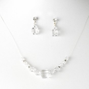 Clear Illusion Necklace & Earring Set NE