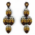 Four Tone Topaz Mix on Black Earring Set 8541