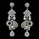 Silver Clear Earring Set 1062