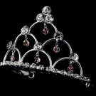 Silver and Amethyst Child's Tiara Comb HPC 500