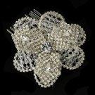 Stunning Crystal Rhinestone Bliss Flower Bridal Hair Comb - Comb 8355