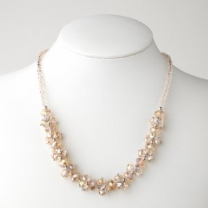 Rose Pink Flower Necklace 7617