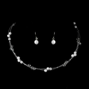 White Child's Necklace Earring Set 7246