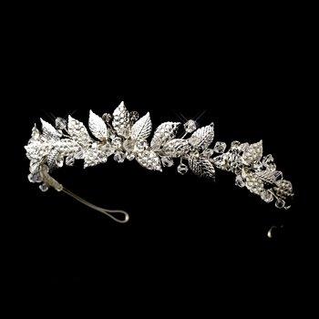 Silver Vintage Bridal Tiara HP 604