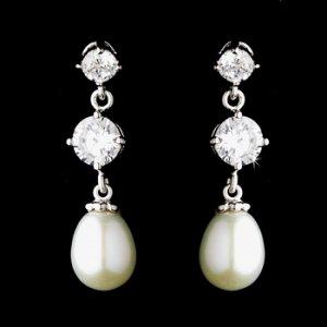 Silver Pearl Earring Set 3592