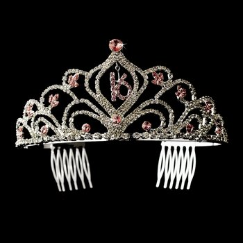 Pink Sweet 16 Tiara Headpiece 242