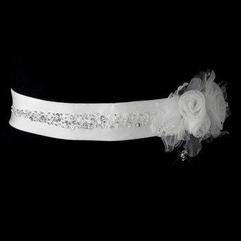 Beautiful Bridal Sash Belt 29 White or Ivory