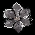 Silver Mesh Flower Brooch 145