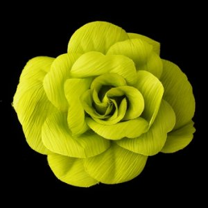 * Green Flower Hair Clip with Brooch Pin 480