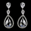 Atnique Silver Clear CZ Earrings 5876