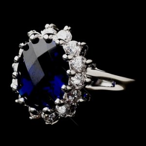 Royal Princess Kate Middleton Inspired Sapphire CZ Ring 5691