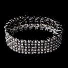 Stunning White Pearl & Clear Rhinestone Stretch Bracelet 8710